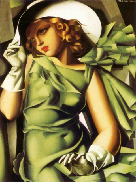 Tamara de Lempicka-Lady in green-1928 (photo D.R.)