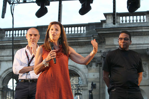 Jean-Jacques Quesada, Susan Brecker, Herbie Hancock (photo C. Bonnetaud)