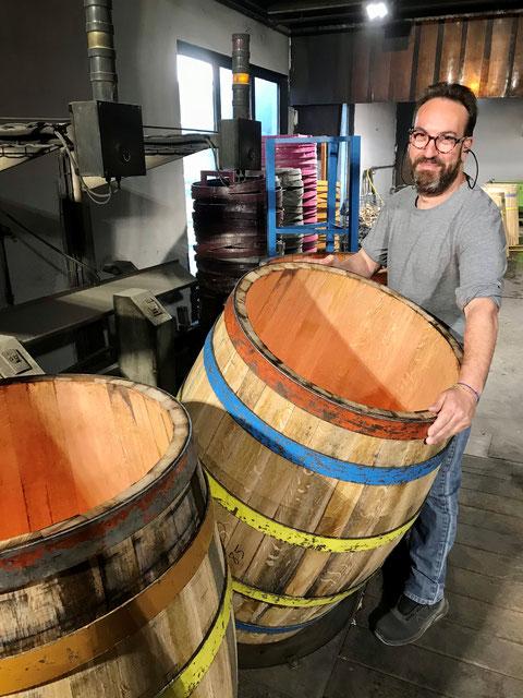 Jean-Paul Gomez, le responsable de la production des tonneaux chez Nadalé