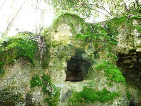 L'entrée de la grotte Pair-non-pair (Photo Daniel Vallée)