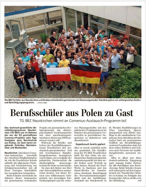 Quelle: Saarbrücker Zeitung vom 8 Juni 2012 Ausgabe Neunkirchen