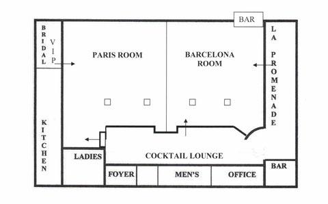 La luna venue layout la luna banquet hall wedding for Banquet hall floor plans