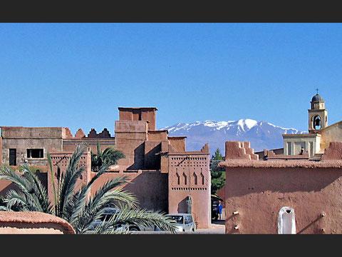 Ouarzazate et les monts de l'Atlas