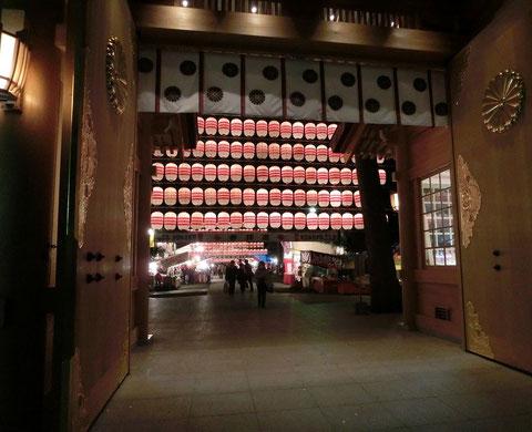 2012年12月31日 大晦日の大國魂神社(府中市)