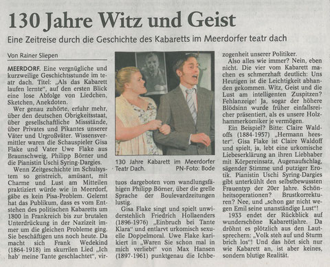 Braunschweiger Zeitung 30.5.2009