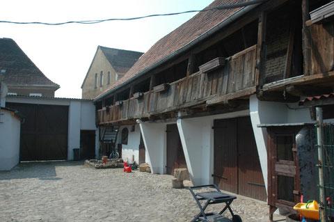 erhaltene Hofgalerie Breite Straße 6 Familie Wank / Schrader