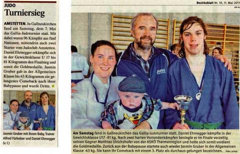 1. Platz Daniel Ehrnegger und 3. Platz Jasmin Gruber (zurück aus der Babypause)