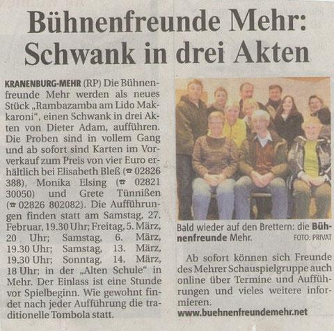Rheinische Post; Dienstag19.Januar 2010