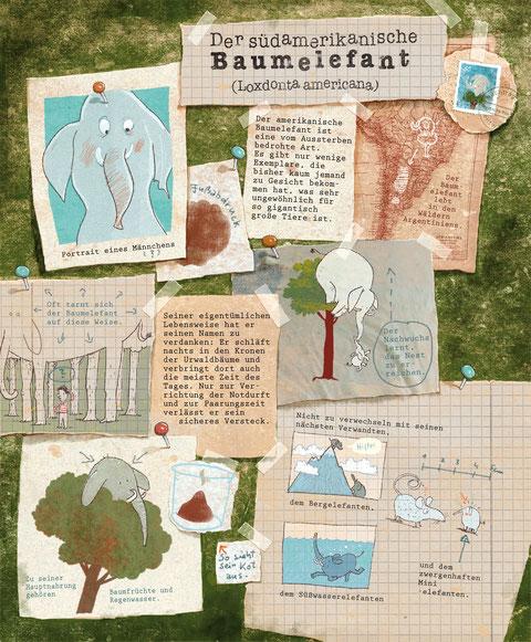Dazu gibt es viele Bestiarium-Seiten. Hier: Der Baumelefant.