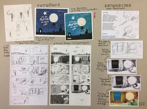 Skizzenpräsentation für eine Ausstellung
