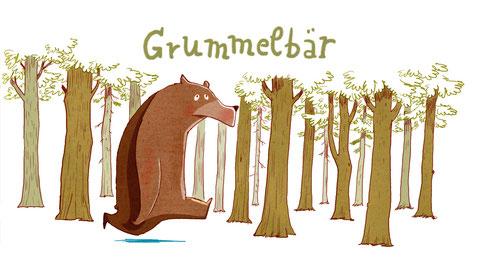 Grummelbär ist eine meiner Figuren aus dem Tummelsurium.
