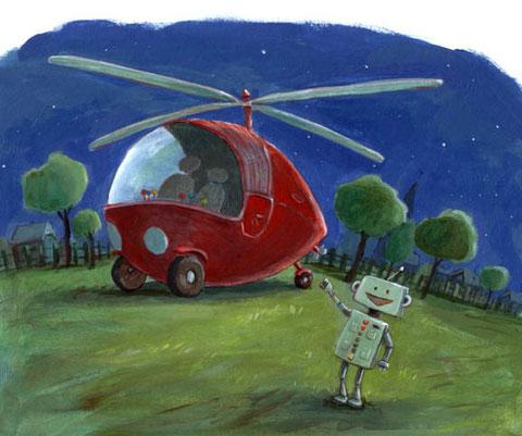 Tataaah! Robbi hat Tobbis Erfindung gebaut: Das Fliewatüüt!
