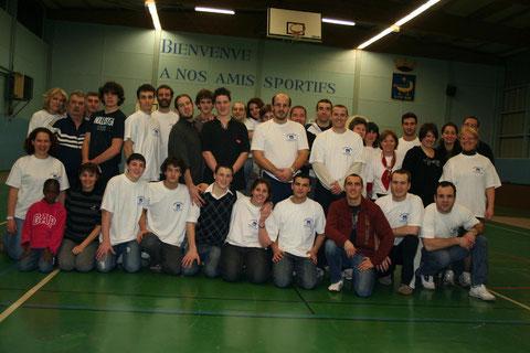 L'équipe après la journée du 20 décembre 2008