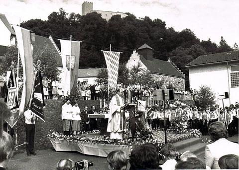 Musikfest mit Standartenweihe 1980