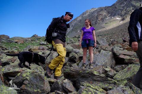 Training Bergwandern mit Hund
