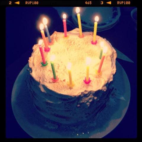 Mein Geburtstagkuchen, Biscuit mit Himbeere und weicher Baiser