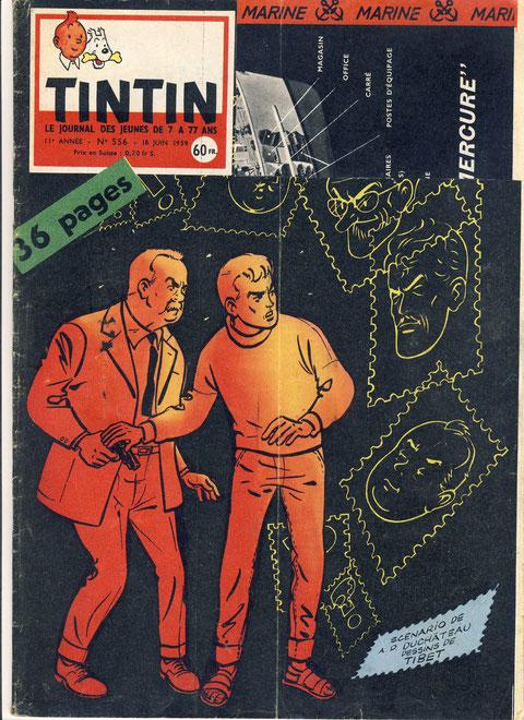 Le journal de Tintin numéro 556 18 juin 1959