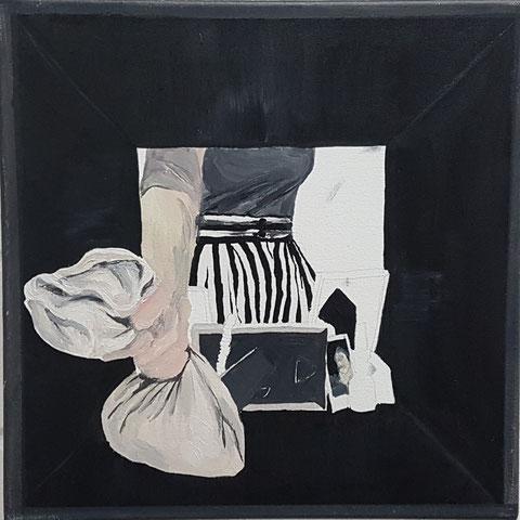 """""""Kallax IV"""" 35x35 cm, Acryl auf Leinwand,2018"""