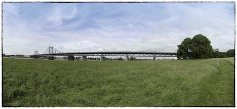 Pano Uerdinger Rheinbrücke Duisburger Seite