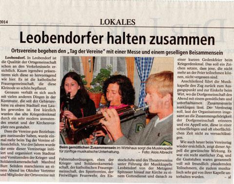 Südostbayerische Rundschau 01./02. November 2014