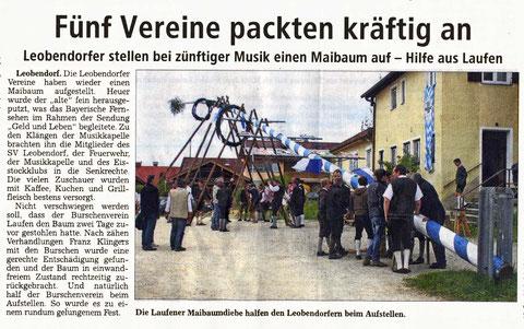 Südostbayerische Rundschau vom 9./10. Mai 2013