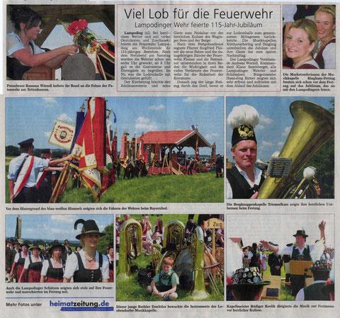 Auszug Zeitungsbericht Südostbayerische Rundschau vom 15.07.2013