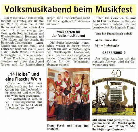 Südostbayerische Rundschau vom Donnerstag, 26. April 2012