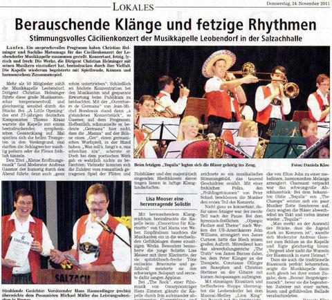Südostbayerische Rundschau vom 24.11.2011