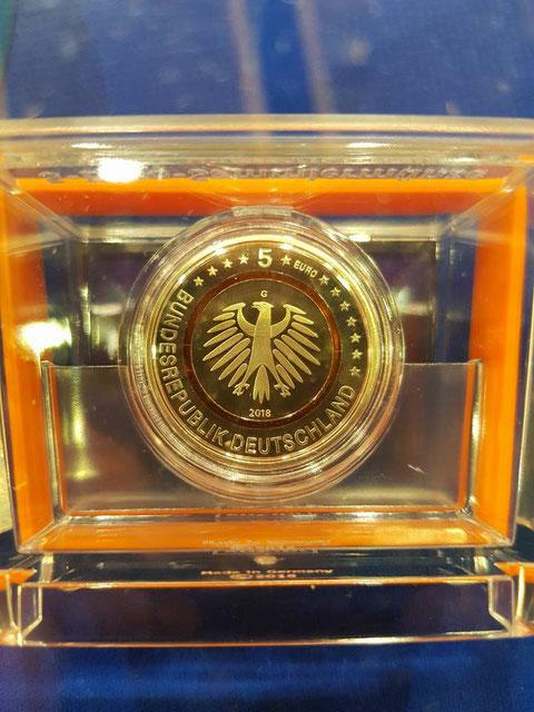 Die Neue 5 Euro Münze Subtropische Zone Ring Orange