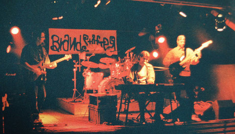 Brandstifter, 2001 (v.l. Markus Bruun: Gitarre / Daniel Friedli: Schlagzeug+Gesang / Stefan Friedli: Gesang+Piano / Patrick Beyeler: Bass)