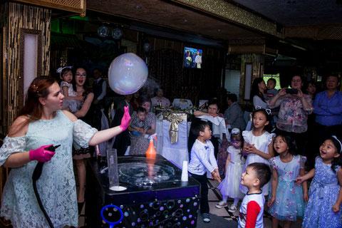 шоу мыльных пузырей на детский праздник и день рождения