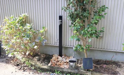 散水栓 → 立水栓 TOYO ナルルポール ブラック