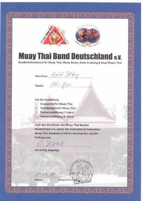 Bild Urkunde C-Lizenz