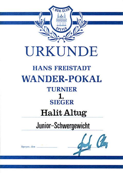 Bild Urkunde Wanderpokal