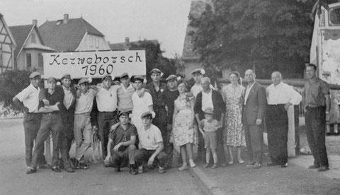 Beim Kerwebaumgewinner 1960