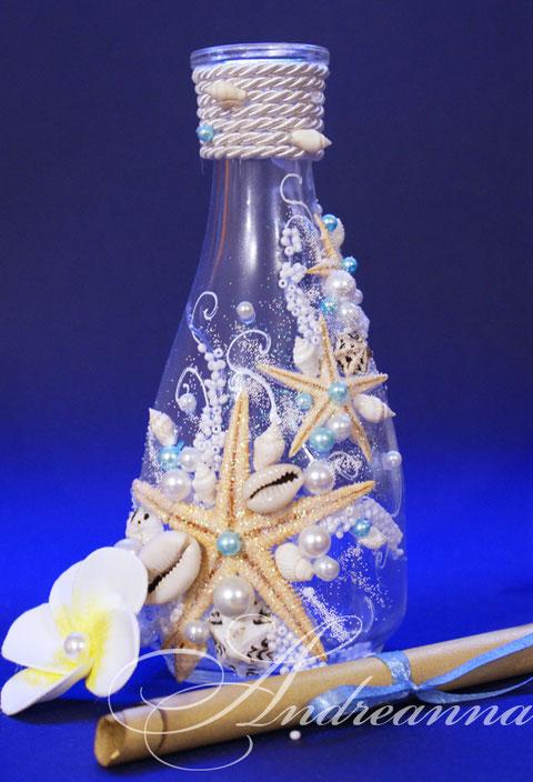 Пригласительная в бутылке (выполняется в любом желаемом цветовом и стилевом решение, разработка макета именной пригласительной, при заказе, в подарок, бумага (цвет, фактура, перламутровая или матовая) на выбор). Стоимость 1пригласительной в бутылке 60грн