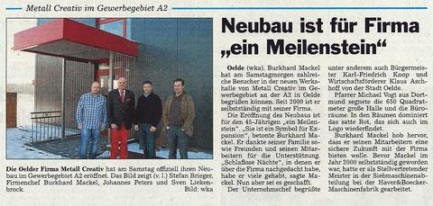 Metallbau Oelde_Burkhard Mackel_Einweihung_Metallbauer_Edelstahl_Stahl