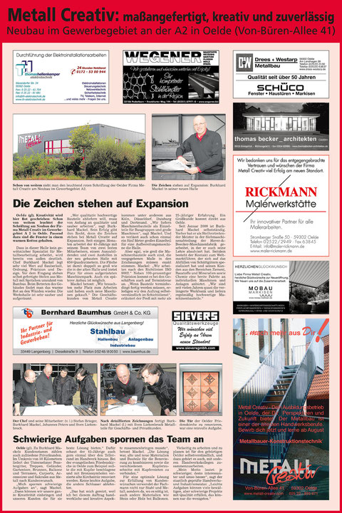 Metallbau Oelde_BuEinweihung_Metallbauer_Edelstahl_Stahl_Burkhard Mackel