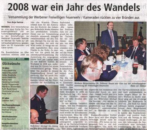 Bericht Altmarkzeitung