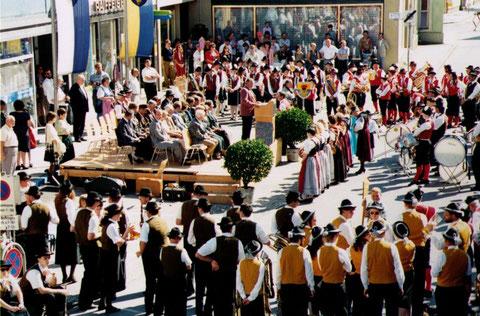 1994: 25-jähriges Gründungsfest vom 26. bis zum 28. August. Festkonzert am 27. August im Park mit dem Musikverein Schnittlingen (D). Festveranstaltung am 28. August am Marktplatz mit benachbarten Gastkapellen.