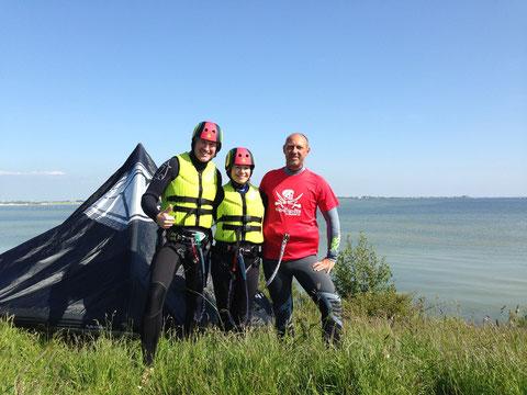 kiten leren Kite Les Ijsselmeer Kiteschool Nederland Holland Friesland Ijsselmeerkust