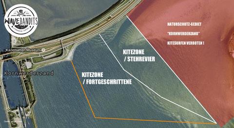 Stehrevier Kiten Kornwerderzand Ijsselmeer Sondergenehmigung