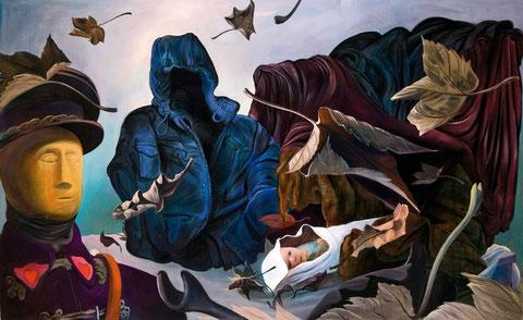 Lukas Johannes Aigner, Es wird kalt, Acryl auf MDF, 144x 235, 2008