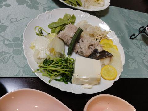 強化合宿の夕食