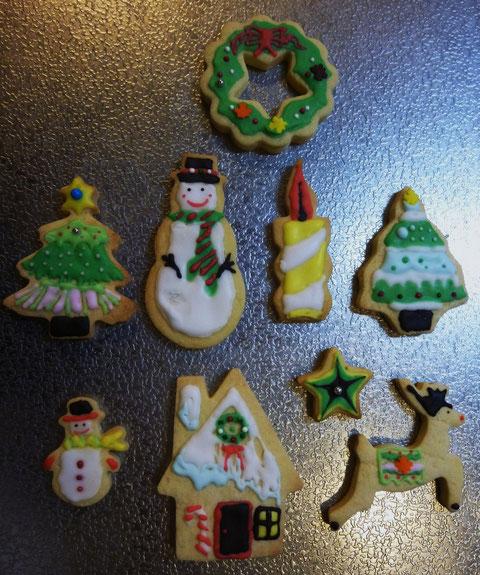 「クリスマスバージョン」 アイシングクッキー