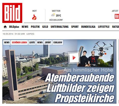 Luftaufnahmen Bild-Zeitung
