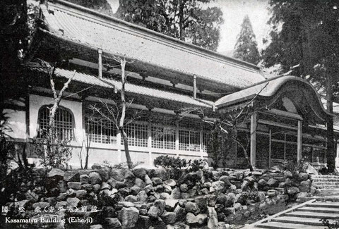 永平寺・傘松閣・絵葉書(東川寺所蔵)