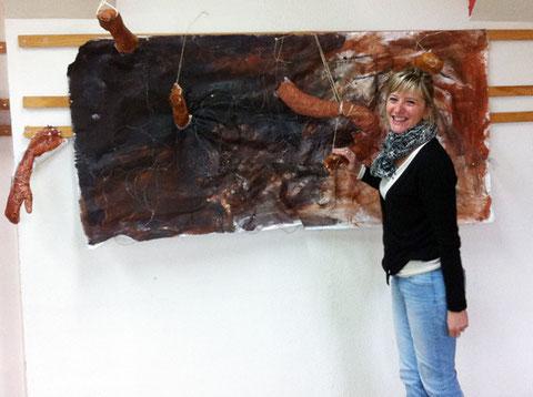 Madame Lafon-Billard, professeur d'arts plastiques