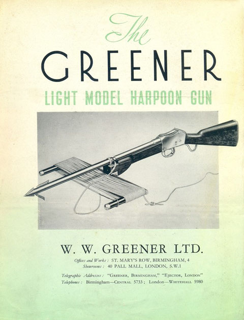 GREENER HARPOON GUN