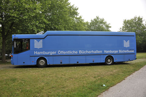 Bücherbus Fahrerseite